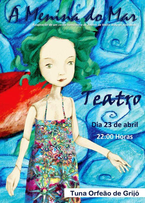 Teatro - Cartaz menina do mar